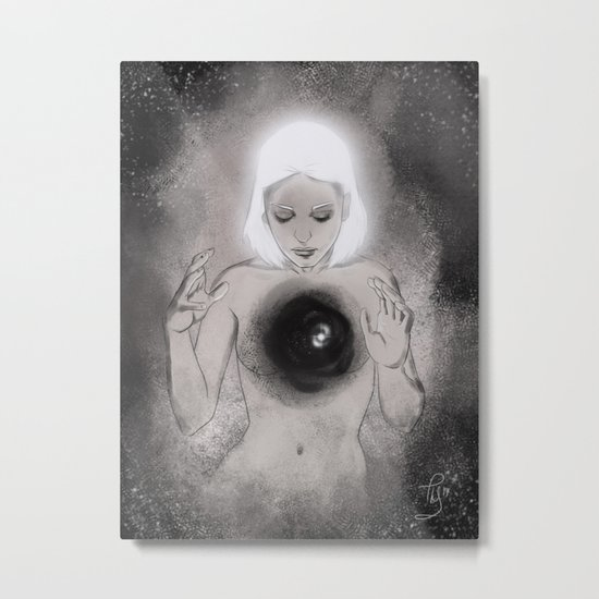 And There Was Light Metal Print