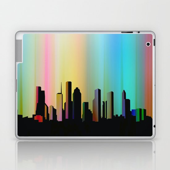 Cityscape through the veil Laptop & iPad Skin