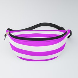 Orlando Orchid Pink Horizontal Tent Stripes Florida Colors of the Sunshine State Fanny Pack