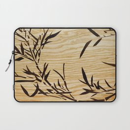 Japanese bamboo buddha wood art Laptop Sleeve
