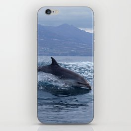 Wild and free bottlenose dolphin iPhone Skin