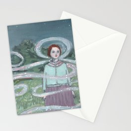 memories wrapped around her and guided her home Stationery Cards