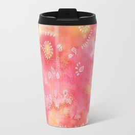 Water colors 3 - Pink and yellow corals Travel Mug