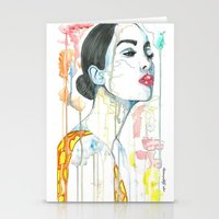 watercolour Stationery Cards featuring watercolour by Udya