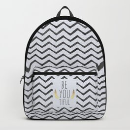 Be You Tiful Quote Backpack