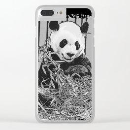 Panda Bear Cutie Clear iPhone Case