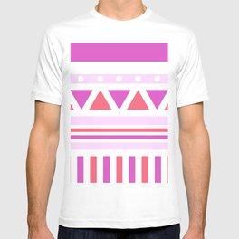 Aztec Patch; Pink. T-shirt