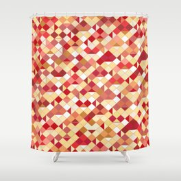 Geometrica 2 (earth tones) Shower Curtain
