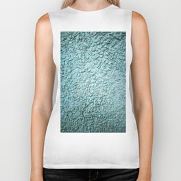 Rugged turquoise wall texture. Ready for wallart, clothes, furniture, art in general. Biker Tank