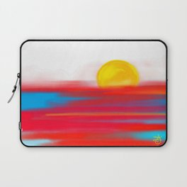 Sketchy Sun and Sea. Sunset and Sunrise Sketch Laptop Sleeve