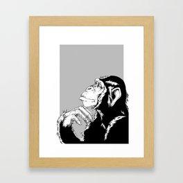 Nim Chimpsky Framed Art Print