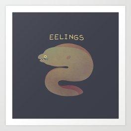 Eelings Art Print