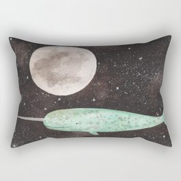 Narwhal in the sky Rectangular Pillow
