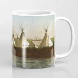 Crow Indian Camp on the Rivers Edge Coffee Mug
