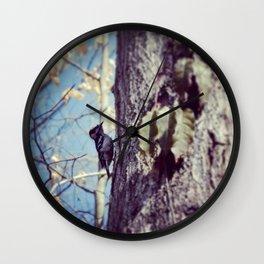 Baby Woodpecker  Wall Clock