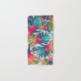 Watercolor Tropical Pattern Hand & Bath Towel