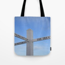 Canal side fingerboard Tote Bag