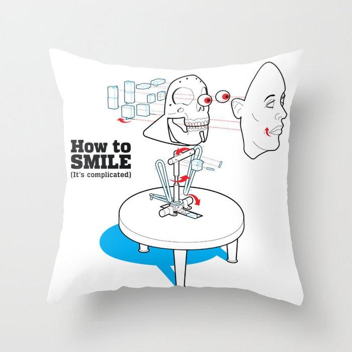 How to Smile Throw Pillow