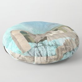 Faded fantasies of a neglected mind Floor Pillow
