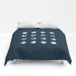 8bit Moon Phases Comforters