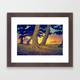 Domi's Heart at Sunset Framed Art Print