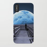 bruce springsteen iPhone & iPod Cases featuring Once in a blue moon by Donuts