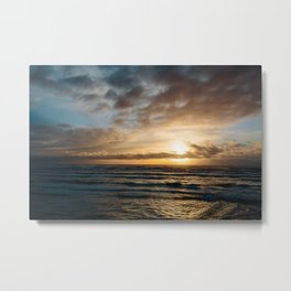The Pacific Ocean at Sunset // Fort Stevens State Park, Oregon Metal Print