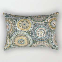 Boho Patchwork-Mineral Colors Rectangular Pillow