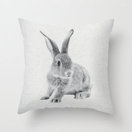 Rabbit 25 Throw Pillow