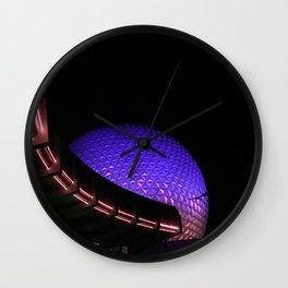 The Golfball at Night Wall Clock