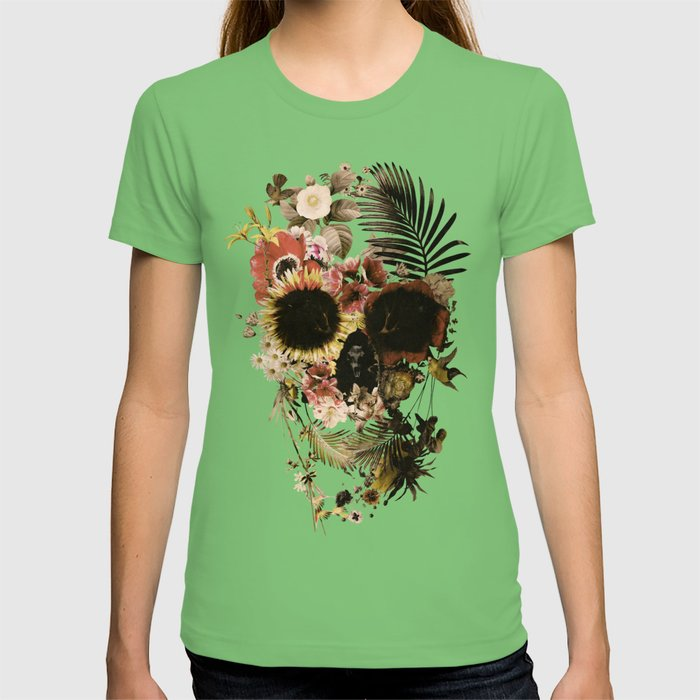 Garden Skull Light T-shirt by aligulec | Society6