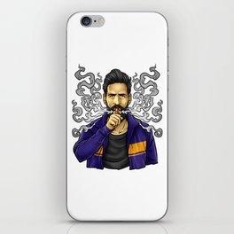 Cloud Chaser - Vaping Bearded Guy iPhone Skin