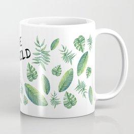 "Tropical Print Quote ""Live Wild"" Coffee Mug"