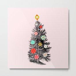 Retro Christmes tree no2 Metal Print