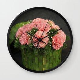 Box of Carnations Wall Clock