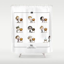 Little Halloween Pumpkin Contest Shower Curtain
