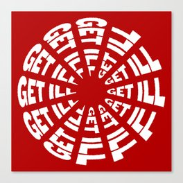 Time to Get Ill Clock - Red Canvas Print