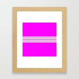 """4 Stripes on Pink """"Girlpower"""" Framed Art Print"""