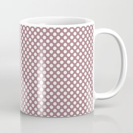 Nostalgia Rose and White Polka Dots Coffee Mug