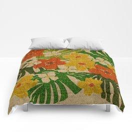 Limahuli Garden Hawaiian Floral Design Comforters