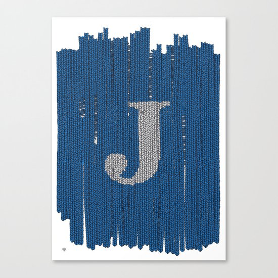 Winter clothes. Letter J II. Canvas Print