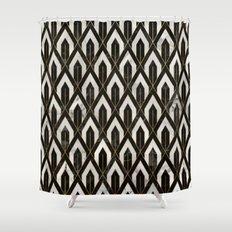 Art Deco Marble Pattern Shower Curtain