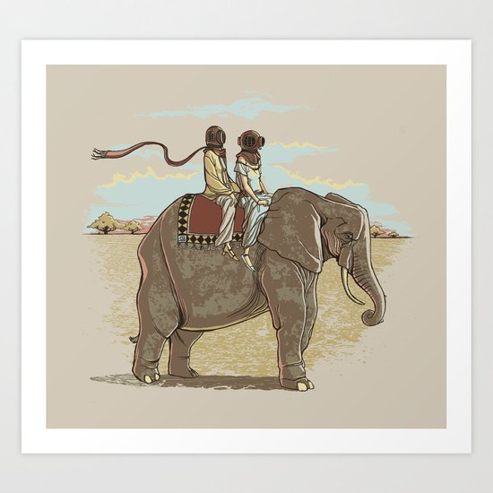 In Pachydermic Fashion Art Print