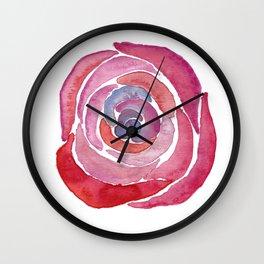 Merlot Blend Rose  Wall Clock