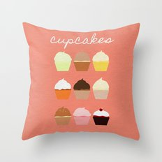 Baker's Joy Collection: Cupcakes Throw Pillow