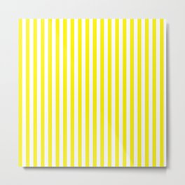 Small Vertical Yellow Stripes Metal Print