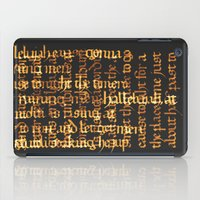 calligraphy iPad Cases featuring Calligraphy Gothic by Cami Landia
