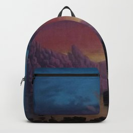 Sunset in California landscape painting by Gilbert Munger Backpack