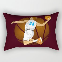 Basketball Player II Rectangular Pillow