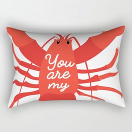 You are my lobster #love #iloveyou #lobster #cute #illustration #sea #seafood #orange #red Rectangular Pillow